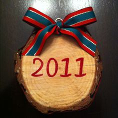 I made this ornament from the trunk of our Christmas tree this year. I plan to do one every year. A great memento from Christmas' past.