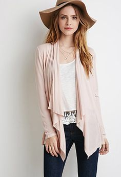 Open-Front Knit Cardigan   Forever 21 - 2000099430