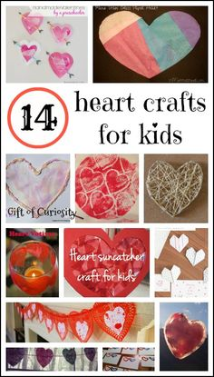 14 heart crafts for kids {Weekly Kids' Co-op} - Gift of Curiosity