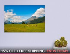 Discover «Almost typical New Zealand landscape», Numbered Edition Canvas Print by Daniela Constantinescu - From $59 - Curioos