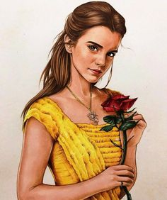 Emma Watson as Belle fan art.