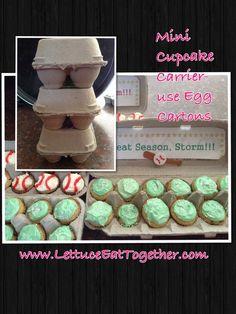 Transport Mini Cupcakes in Egg Cartons