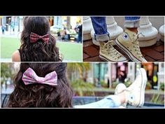 DIY Hair Bows! Love this video only had to watch it once to make a bow and wore it the next day pin now watch later!
