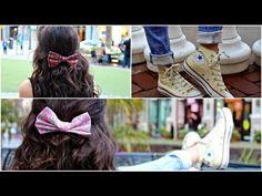 DIY Hair Bows! + How I wear/style my bows - YouTube