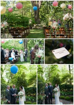 Great way to memorialize those that can not be with you on your wedding day. Balloon release with name of loved one attached.  Wedding by Southern Event Planners  #itsallinthedetails #southernwedding #southerneventplanners