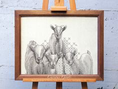 Curious Goats - Ajisai Press - A #blackwork pattern designed and stitched by Valentina Sardu