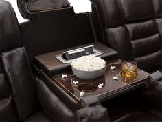 Heritage Exposition Home Theater Sofa Leather Reclining Sofa, Reclining Sectional, Recliner, Drop Down Table, Fold Down Table, Genuine Leather Sofa, Usb Charging Station, Home Theater Seating, Bedroom Styles