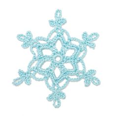 Free pattern for Crochet Snowflake / Patrón gratuito para copo de nieve de ganchillo
