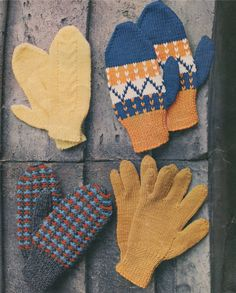 Childrens Gloves and Mittens PDF Knitting Pattern : Boys or Girls . Fair Isle . Cable Stitch . Patterned . Instant Digital Download by PDFKnittingCrochet on Etsy