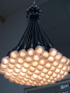 85 lamps chandelier by Rody Graumans - beautiful until lightbulbs start burning out!
