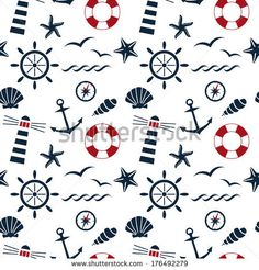 Vector Set Of Four Nautical Seamless Patterns. Nautical Birds. Marine Seagulls. Cartoon Birds. Kid'S Elements For Scrap-Booking. Childish Background. Hand Drawn Vector Illustration. - 144260116 : Shutterstock