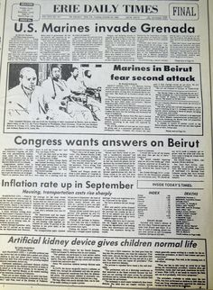A cover dated October 25, 1983, covering President Ronald Reagan's decision to invade Grenada. Grenada's government was overthrown in a little more than a week.