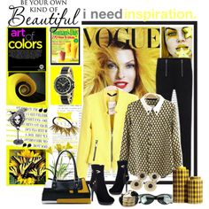 """Art of Yellow"" by joumana-diab-taha on Polyvore"