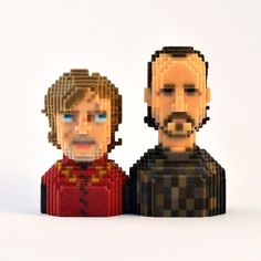 Cool 3D Printed Pixel Figures - More Cool 3D Printing @ http://3dprintingtycoon.com/