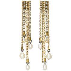 Erickson Beamon Girlie Queen Pearl Drop Earrings at 30PonteV.com