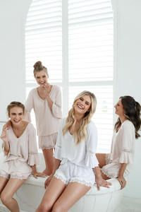 8 Getting Ready Outfit Ideas For The Bridal Party Getting Ready Photo Getting Ready P Bridal Party Outfit Bridal Party Pajamas Bridesmaid Get Ready Outfit