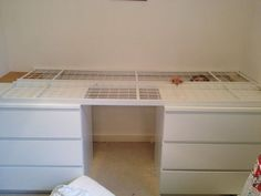 DIY raised bed tutorial - I recently had an idea about how to make a new bed for. - DIY raised bed tutorial – I recently had an idea about how to make a new bed for my son's room. Box Room Bedroom Ideas For Kids, Box Room Beds, Bedroom Storage For Small Rooms, Bunk Beds Small Room, Beds For Small Spaces, Box Bedroom, Kids Bunk Beds, Diy Cabin Bed, Cabin Beds For Kids