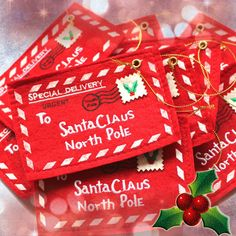 10pcs Creative Christmas Envelope Candy Bag Free Shipping High Quality For Decoration And Gift