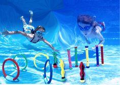 Amazon.com: Intex Underwater Pool Diving Toys Assortment - Includes: Diving Rings, Aquatic Dive Balls, Diving Play Sticks: Toys & Games