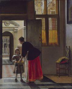 1663, A Boy Bringing Bread by Pieter de Hooch