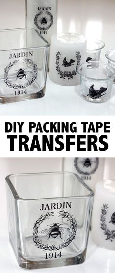 DIY Packing Tape Transfers