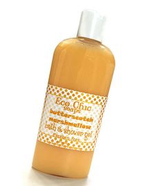 Butterscotch Marshmallow Body Wash  Bath & Shower by EcoChicSoaps