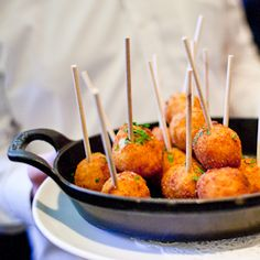 Stephi's on Tremont's signature snack - deep fried macaroni & cheese balls!