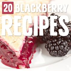 Eating more blackberries is easy with these blackberry recipes. Their unique taste shines in each one and Ive officially added them to my berry rotation. Blackberry Recipes, Jam Recipes, Ice Cream Recipes, Paleo Recipes, Sweet Recipes, Cooking Recipes, Paleo Fruit, Paleo Dessert, Dessert Recipes