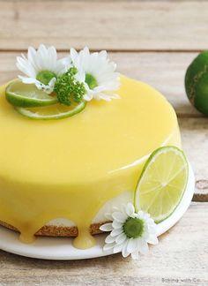 tarta de queso de lima o limón