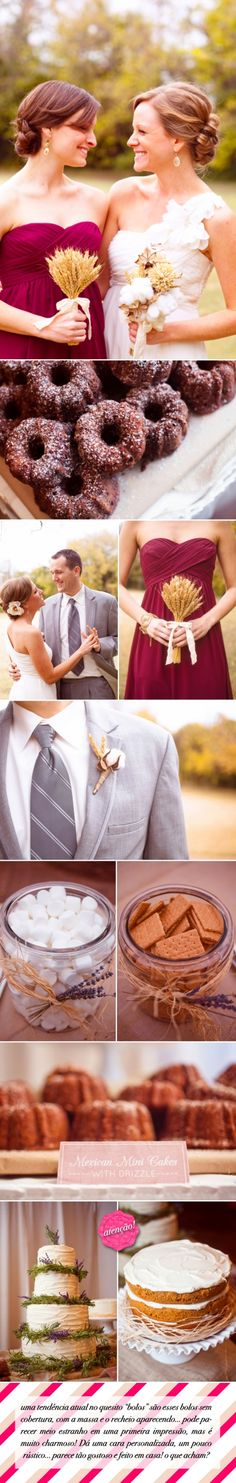 Pinning this for the wine colored bridesmaid's dress and the groom's tie