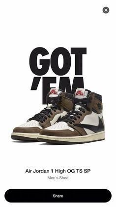 super cute c077c 51dbc Rare Jordan 1 Travis Scott Size 9 New In Box 100% Authentic From Nike Snkrs