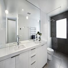 I really like the Oversized Tile used in this shower...