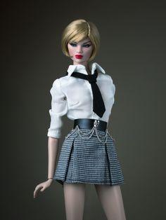 https://flic.kr/p/LMmVdK | A-Z Challenge: P - Plaid | Karolin Stone Making an Entrance.  Dasha the Minimalist blouse / Momoko Miss Weekday skirt / Imogen Be Daring belt / hand-made tie