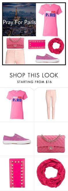"""PRAY FOR PARIS/ Paris you have all my condolences "" by sweetfashion5 ❤ liked on Polyvore featuring H&M, Superga, Chanel, Valentino, maurices, prayforpeace, prayforparis, PrayersForParis, prayingforparis and prayfortheworld"