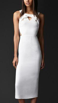 Burberry Prorsum Bow Front Cut-Out Dress