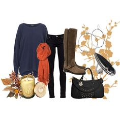 long sweaters + jeggings + boots