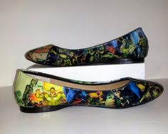 Loki Comic Book Flats  Made to Order by custombykylee on Etsy, for Madi