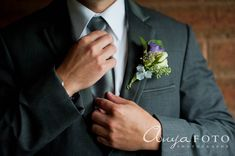 anyafoto.com, wedding boutonnieres, purple boutonnieres, green boutonnieres, white boutonnieres, purple rose, white rose