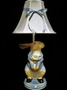 Whimsical Peter Rabbit Lamp by whimsicalcollections on Etsy, $110.00
