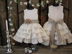 rustic country flower girl dresses   ... Flower Girl. Toddler Ruffle Dress. Linen Girls Dress. Country Rustic