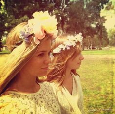 how to make a lovely flower crown {fun for a summer soiree}