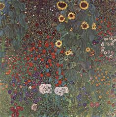 Country Garden with Sunflowers - Gustav Klimt