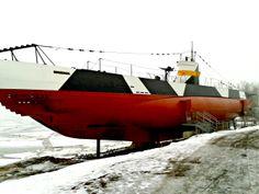 Submarine on Suomenlinna Island, Helsinki, Finland (February 2014)