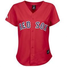 Boston Red Sox Women's Red MLB Alternate Replica Jersey (Majestic). The Sox are wicked good!