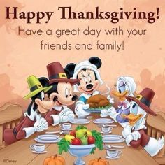 Happy Thanksgiving from our family to yours! We have so much to be thankful for.like, Disney! And Disney! And DISNEY! Happy Thanksgiving Wallpaper, Happy Thanksgiving Images, Thanksgiving Blessings, Thanksgiving Greetings, Vintage Thanksgiving, Thanksgiving Quotes, Thanksgiving Decorations, Christmas Greetings, Peanuts Thanksgiving