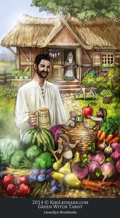 Green Witch Tarot: The Harvest / Judgement