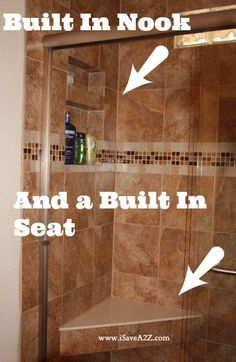 Check out our amazing Tub to Shower Bathroom Remodel! Before and After photos included! #Remodel #Bathroom #Frugal
