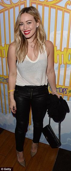 Actress Hilary Duff attends the Selena Gomez concert viewing party at Hyde Lounge Staples Center