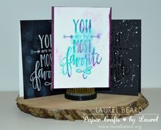 3 cards with the same @neatandtangled stamp set.... #distressinks #heatembossing #chalkboard