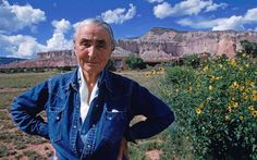Georgia O'Keeffe at Ghost Ranch in New Mexico, 1968. How Georgia O'Keeffe left her cheating husband for a mountain: 'God told me if I painted it enough, I could have it'